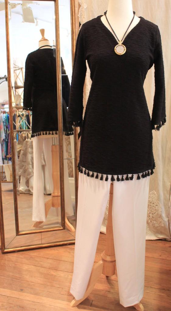 Look three: sleek tunic and pants