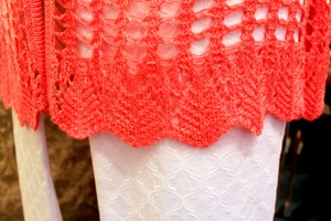 Crochet hem on Simply Noelle top