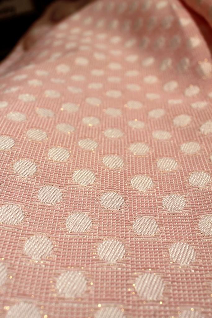 Metallic threads in Sarah Campbell coat